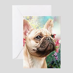 French Bulldog Painting Greeting Cards