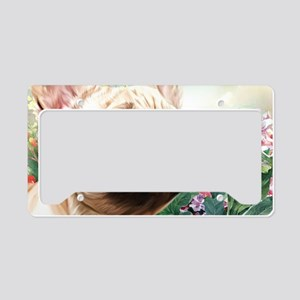 French Bulldog Painting License Plate Holder