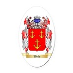 Weile Oval Car Magnet