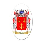 Weile 35x21 Oval Wall Decal