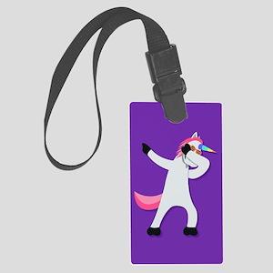 Unicorn Dab Large Luggage Tag