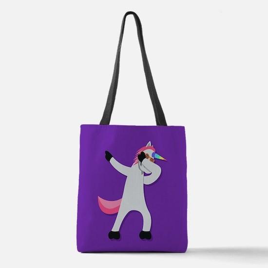 Unicorn Dab Polyester Tote Bag