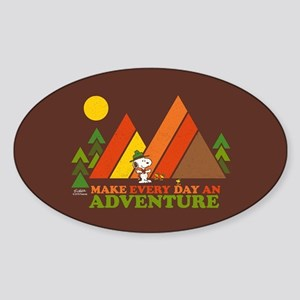 Snoopy-Make Every Day An Adventure Sticker (Oval)