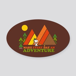 Snoopy-Make Every Day An Adventure Oval Car Magnet