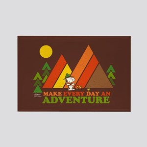 Snoopy-Make Every Day An Adventur Rectangle Magnet
