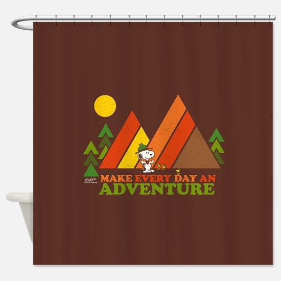 Snoopy-Make Every Day An Adventure Shower Curtain
