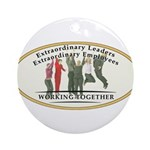 Extraordinary Leaders Round Ornament