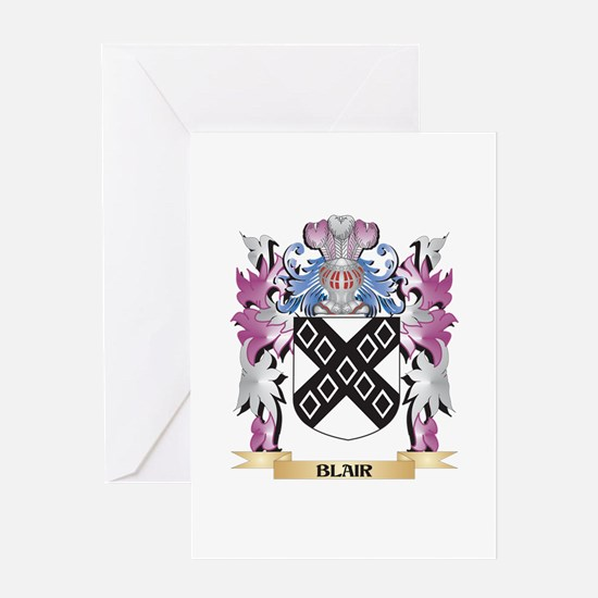 Blair Coat of Arms (Family Crest) Greeting Cards