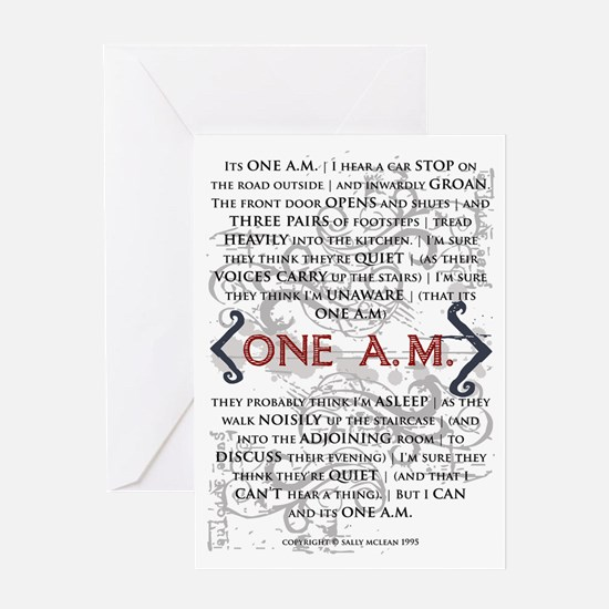 One AM Greeting Card