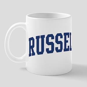 RUSSELL design (blue) Mug
