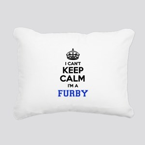 I can't keep calm Im FUR Rectangular Canvas Pillow