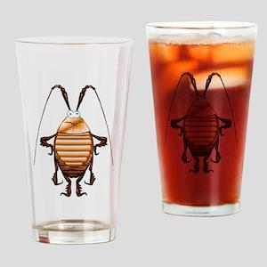 Cockroach 3D Cartoon Drinking Glass