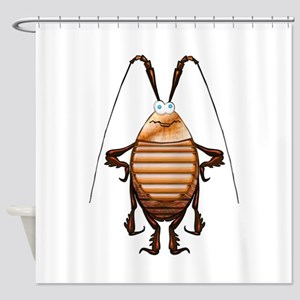 Cockroach 3D Cartoon Shower Curtain