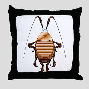 Cockroach 3D Cartoon Throw Pillow