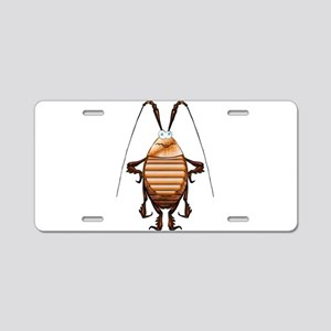 Cockroach 3D Cartoon Aluminum License Plate