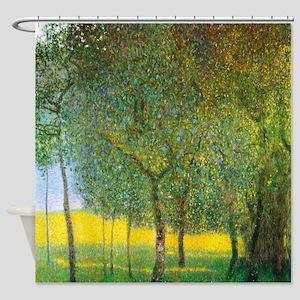 Gustav Klimt Fruit Trees Shower Curtain