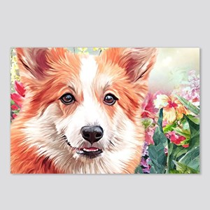 Corgi Painting Postcards (Package of 8)