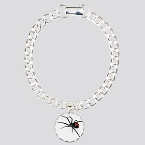 BLACK WIDOW SPIDER Charm Bracelet, One Charm
