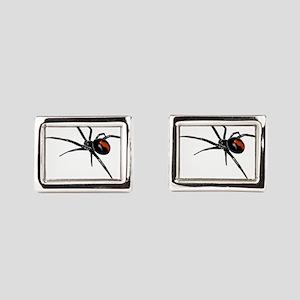 BLACK WIDOW SPIDER Rectangular Cufflinks