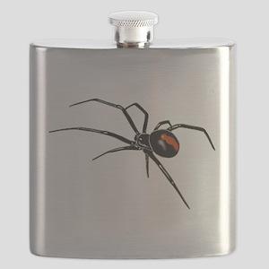 BLACK WIDOW SPIDER Flask