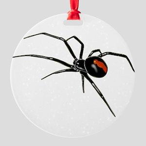 BLACK WIDOW SPIDER Round Ornament