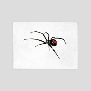 BLACK WIDOW SPIDER 5'x7'Area Rug