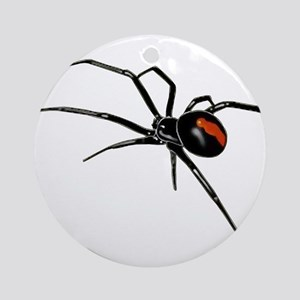 BLACK WIDOW SPIDER Round Ornament