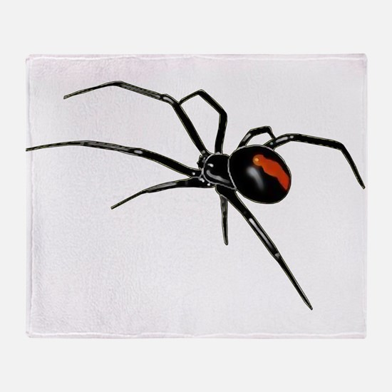 BLACK WIDOW SPIDER Throw Blanket