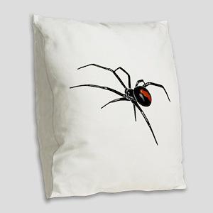 BLACK WIDOW SPIDER Burlap Throw Pillow