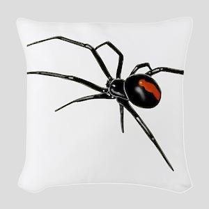 BLACK WIDOW SPIDER Woven Throw Pillow