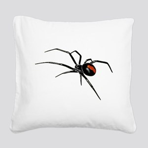 BLACK WIDOW SPIDER Square Canvas Pillow