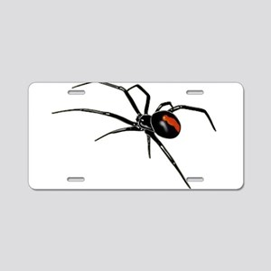 BLACK WIDOW SPIDER Aluminum License Plate