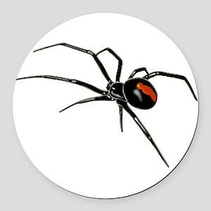 BLACK WIDOW SPIDER Round Car Magnet