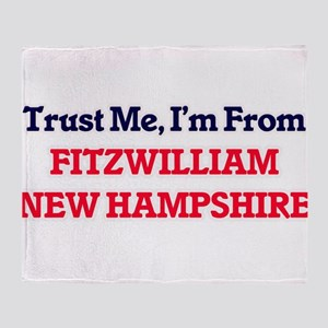 Trust Me, I'm from Fitzwilliam New H Throw Blanket