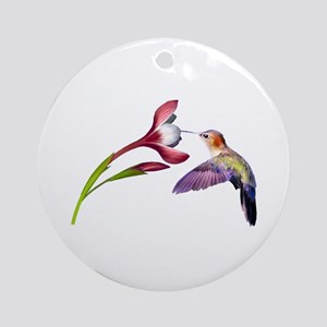 Hummingbird in flight Ornament (Round)