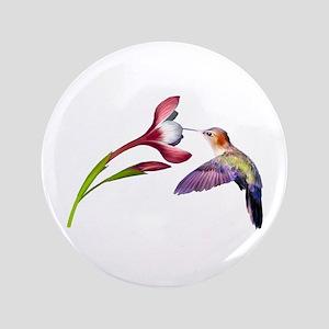 """Hummingbird in flight 3.5"""" Button"""