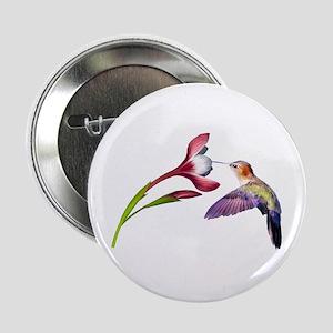 """Hummingbird in flight 2.25"""" Button"""