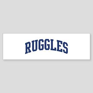 RUGGLES design (blue) Bumper Sticker