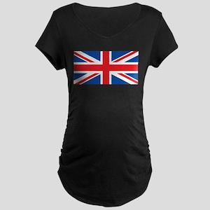 Classic UnionJack Maternity Dark T-Shirt