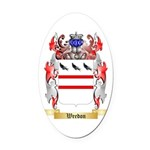 Weedon Oval Car Magnet