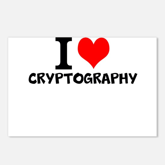 I Love Cryptography Postcards (Package of 8)