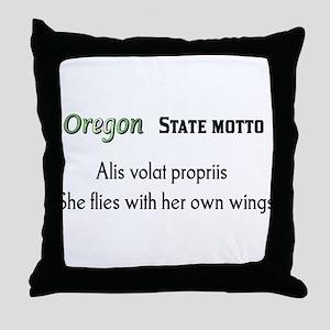 Oregon State Motto Throw Pillow