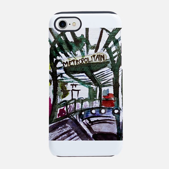 Metro Watercolor Sketch iPhone 8/7 Tough Case