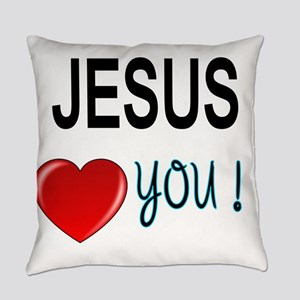 Jesus loves you Everyday Pillow
