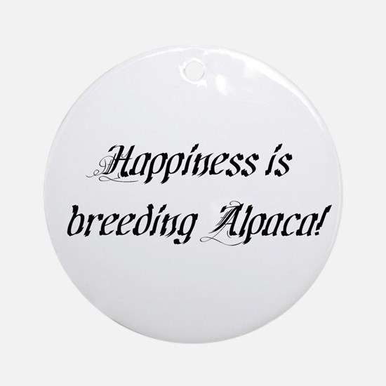 Happy Alpaca Breeder Ornament (Round)