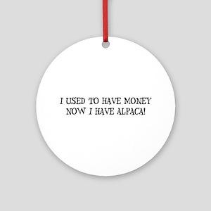 Money or Alpaca Ornament (Round)