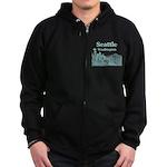 Seattle Zip Hoodie (dark)