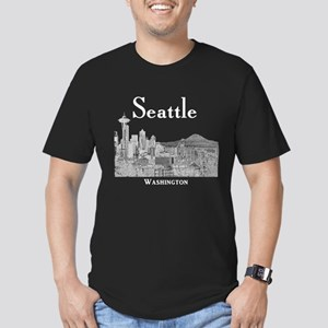 Seattle Men's Fitted T-Shirt (dark)