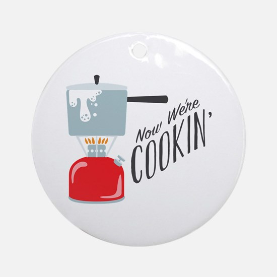 Were Cooking Round Ornament