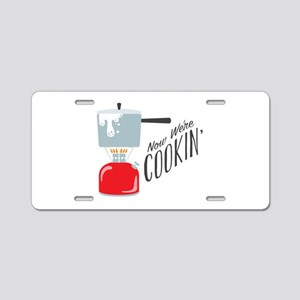 Were Cooking Aluminum License Plate